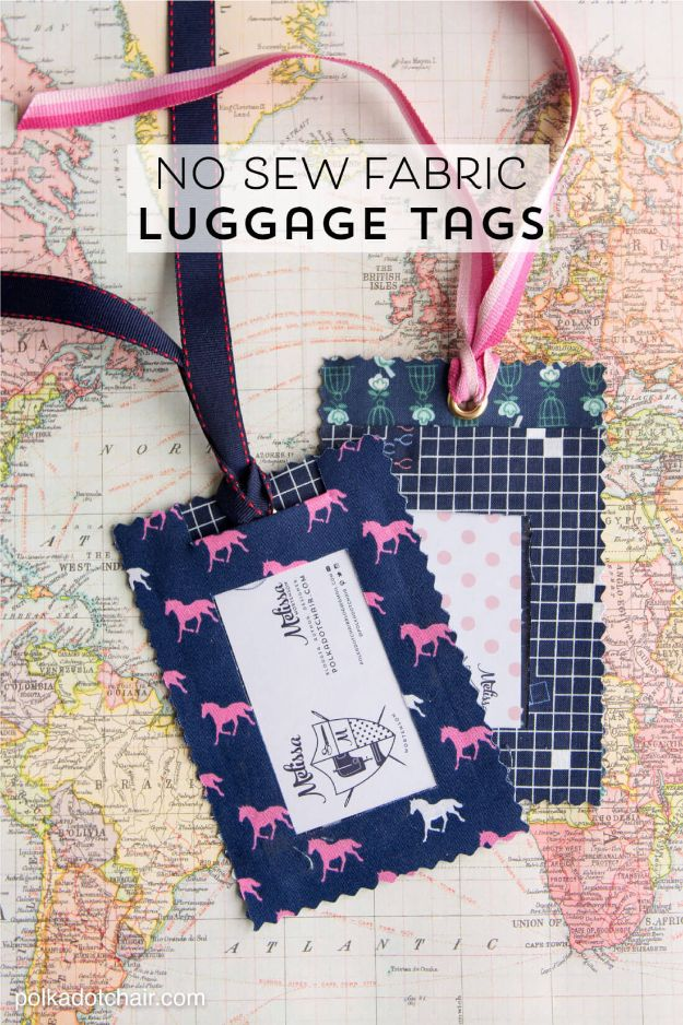 No Sew Fabric Luggage Tags
