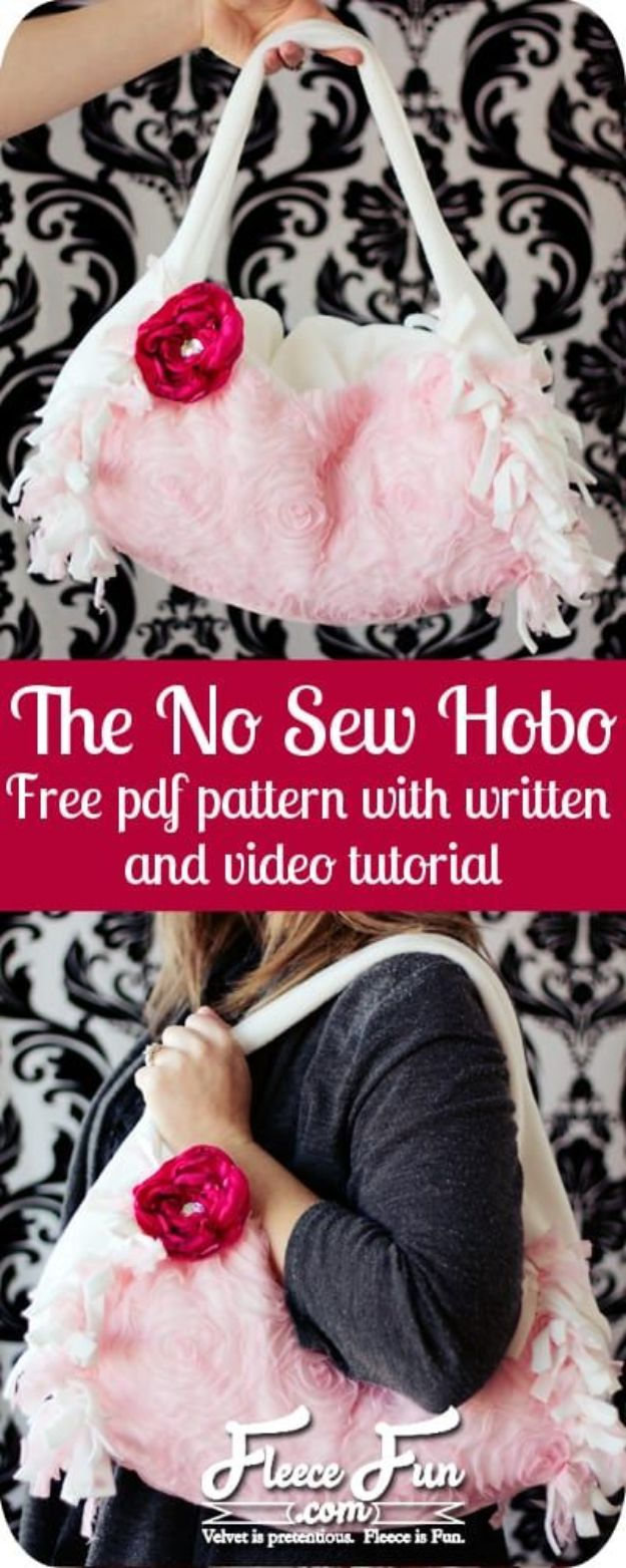 No Sew Gifts to Make - Easy DIY Christmas Presents -No-Sew Hobo Purse