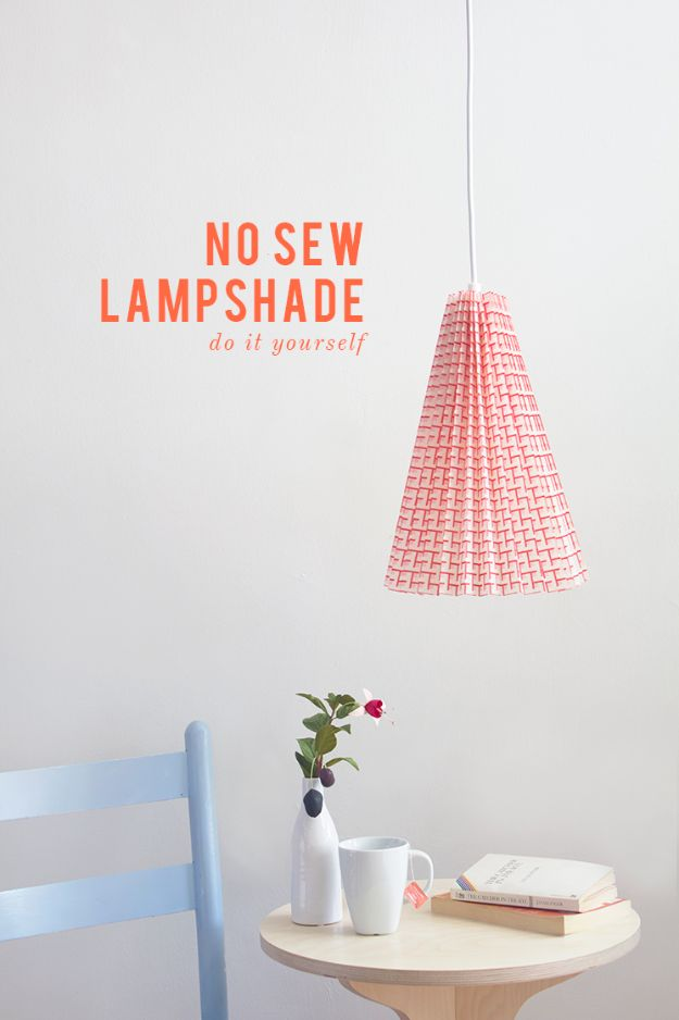 No Sew Gifts to Make - Easy DIY Christmas Presents -No Sew Lampshade