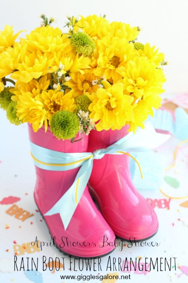 DIY Ideas For Your Boots | Rain Boot Flower Arrangement l Cool Way to Update Old Leather Boot | Denim, Painting, Decorating Cowboy Boots