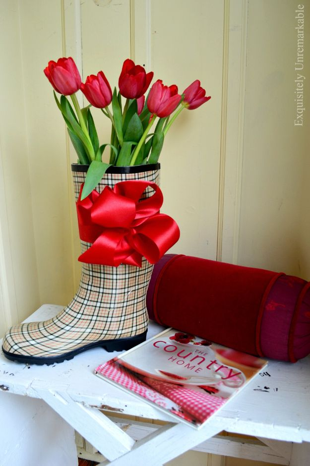DIY Ideas For Your Boots | Rubber Rain Boot Decor l Cool Way to Update Old Leather Boot | Denim, Painting, Decorating Cowboy Boots