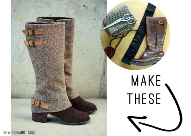 DIY Ideas For Your Boots | Spiffy Boot Spats Tutorial l Cool Way to Update Old Leather Boot | Denim, Painting, Decorating Cowboy Boots