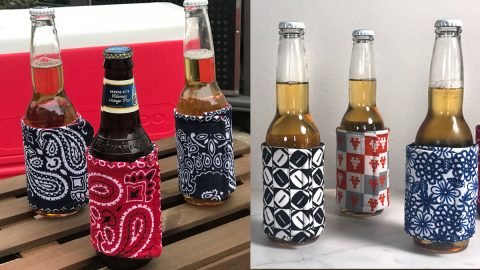 Sewing Tutorial: DIY Fabric Koozies | DIY Joy Projects and Crafts Ideas