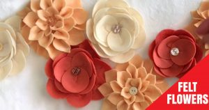 Take Basic Home Decor To The Next Level When You Add These Easy Felt Flowers