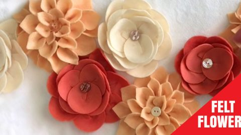 Take Basic Home Decor To The Next Level When You Add These Easy Felt Flowers | DIY Joy Projects and Crafts Ideas