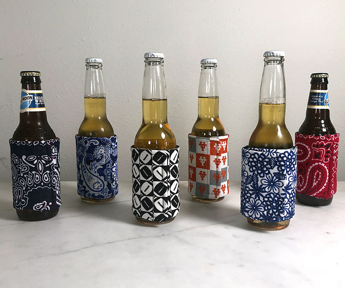 How to Make Fabric Koozies - Sewing Tutorial