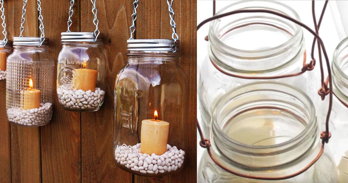 Mason Jar Hanging Lantern Tutorial