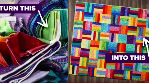 Colorful Fabric Scrap Quilt Tutorial | DIY Joy Projects and Crafts Ideas