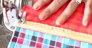 Use Fabric Scraps To Make This Sewing Machine Cover That Organizes, Plus Is The Cutest I've Ever Seen