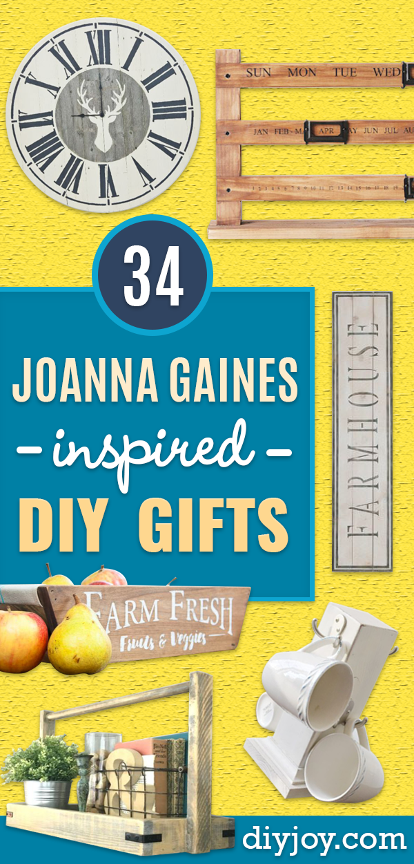 Magnolia Homes Gift Ideas - DIY Home Decor Inspired by Chip and Joanna Gaines - Fixer Upper Gifts - Do It Yourself Decorating On A Budget With Farmhouse Style Decorations for the Home