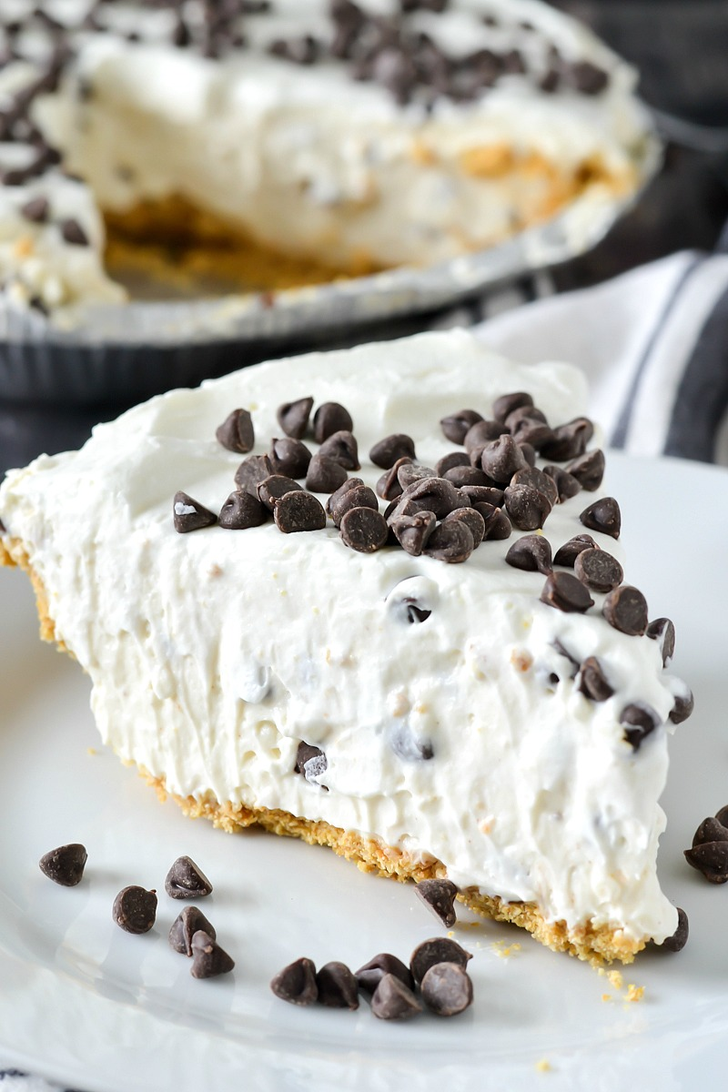 No Bake Desserts | No Bake Cannoli Cream Pie- Quick Dessert Ideas and Easy Sweets You Can Make Without Baking - Healthy Cookies and Pie