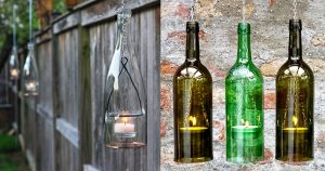 Turns Out Those Empty Wine Bottles Make Super Cool Lighting (Use Them Indoors or Out!)