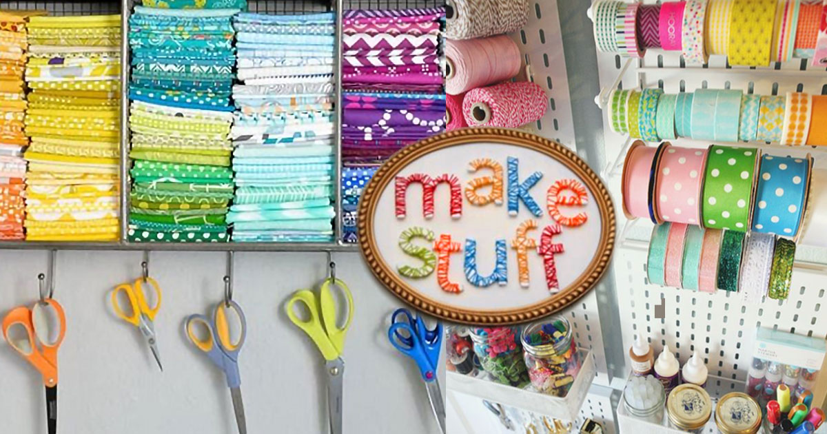 51 Diy Ideas For The Craft Room Organization Decorating Projects