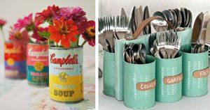 35 Creative DIY Ideas With Tin Cans