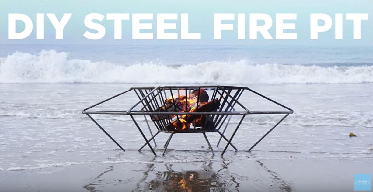 DIY Fire Pit- Steel - Bech or Lake, Backyard Fireplace Ideas Firepit DYI
