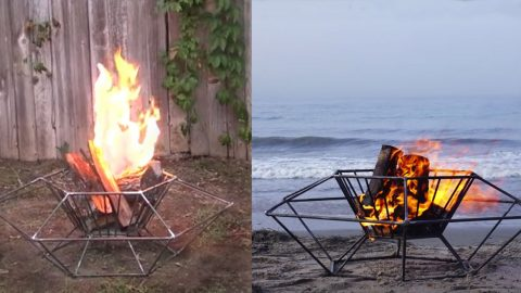 This Portable Steel DIY Fire Pit Is Ready to Travel To The Next Party | DIY Joy Projects and Crafts Ideas