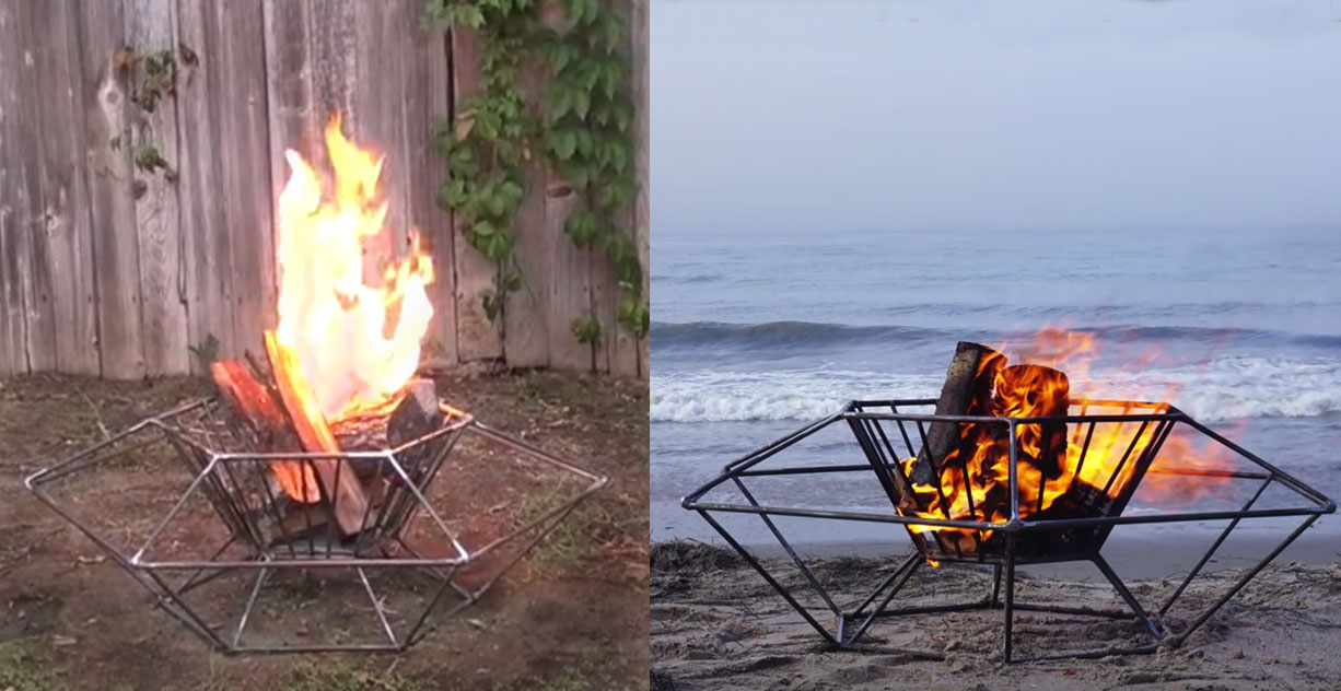 This Portable Steel Diy Fire Pit Is Ready To Travel To The