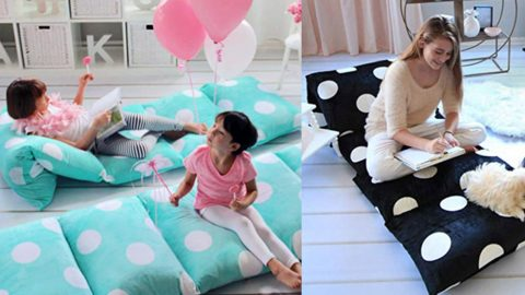Sewing Tutorial: How to Make Pillow Floor Beds | DIY Joy Projects and Crafts Ideas