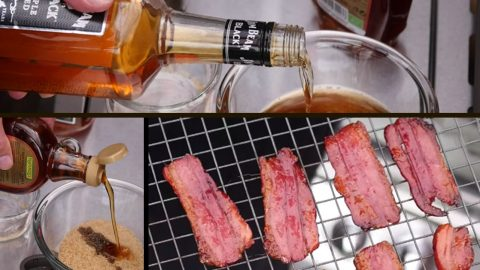 If You Have A Grill and an Hour, We Bet You've Got Everything You Need For Easy Bourbon Candied Bacon | DIY Joy Projects and Crafts Ideas