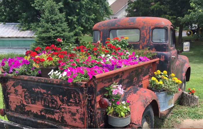 DIY Planter Ideas for Your Backyard - Truck Flower Bed DIY