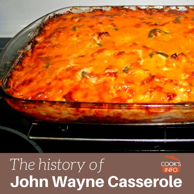 Celebrity Inspired Recipes - John Wayne's Chili Cheese Casserole - Healthy Dinners, Pies, Sweets and Desserts, Cooking for Families and Holidays - Crock Pot Treats