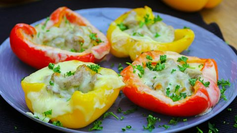 Quick Cheesesteak Stuffed Peppers  Make for An Easy Dinner Idea | DIY Joy Projects and Crafts Ideas