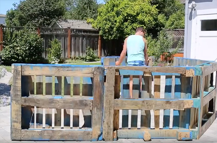 DIY Pool Made From Wood Pallets - How to Make A Cheap Backyard Pool