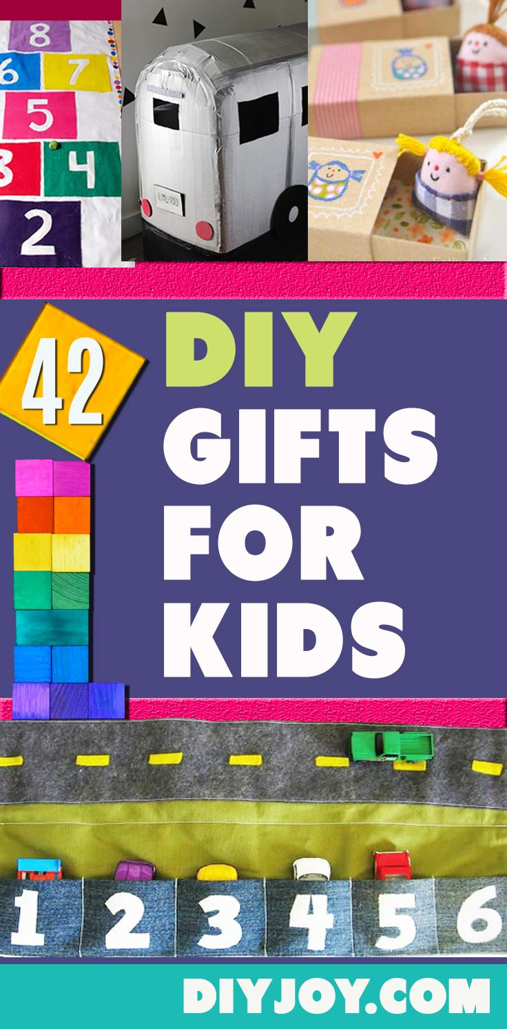 DIY Gifts for Kids - Creative Cheap Things to Make for Children - DYI Toys, Room Decor, Fun Stuff to Make for Children - Pinterest Ideas for Kids
