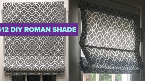 $12 DIY Roman Shade Made From A Mini Blind | DIY Joy Projects and Crafts Ideas