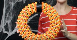 Halloween Decor – Candy Corn Wreath