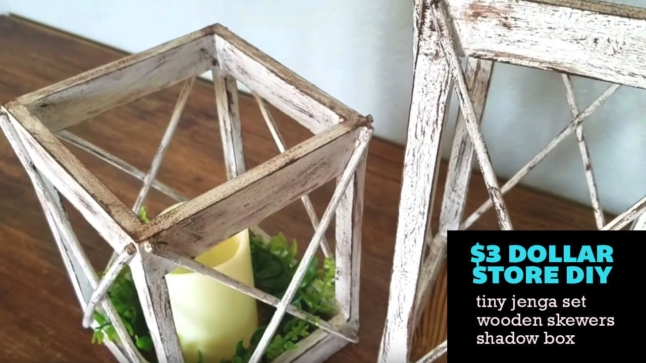 Farmhouse Diy 3 Dollar Tree Rustic Lantern