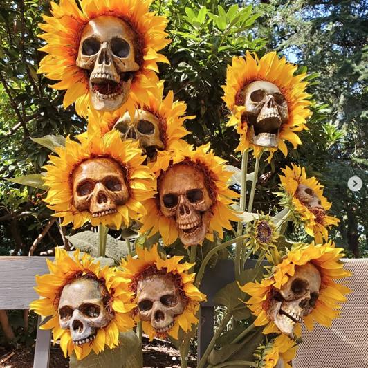 DIY Sunflower Skulls