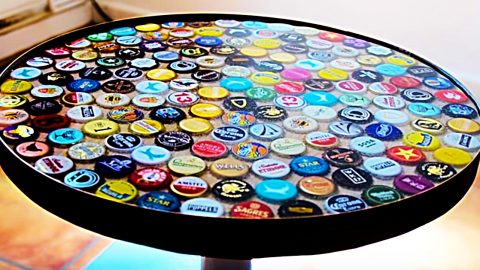 DIY Beer Bottle Cap Table | DIY Joy Projects and Crafts Ideas