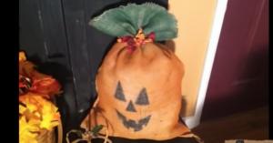 DIY Burlap Sack Pumpkin
