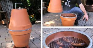 DIY Clay Pot Grill And Smoker
