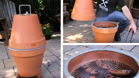 DIY Clay Pot Grill And Smoker | DIY Joy Projects and Crafts Ideas