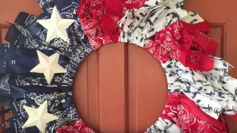 DIY Bandana Wreath | DIY Joy Projects and Crafts Ideas