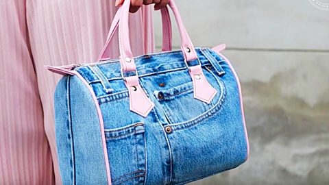 Recycled Denim Purse With a Louis Vuitton Twist | DIY Joy Projects and Crafts Ideas