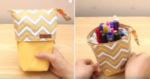 Sewing Tutorial: Standing Pencil Pouch