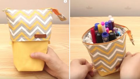 Sewing Tutorial: Standing Pencil Pouch | DIY Joy Projects and Crafts Ideas