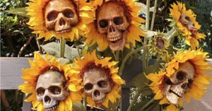 DIY Sunflower Skulls