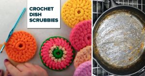 Crocheted Tulle Dish Scrubby