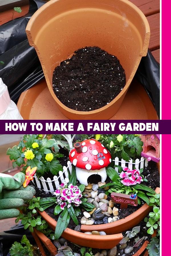 How to Make A Fairy Garden - DIY Fairy Gardens Tutorial