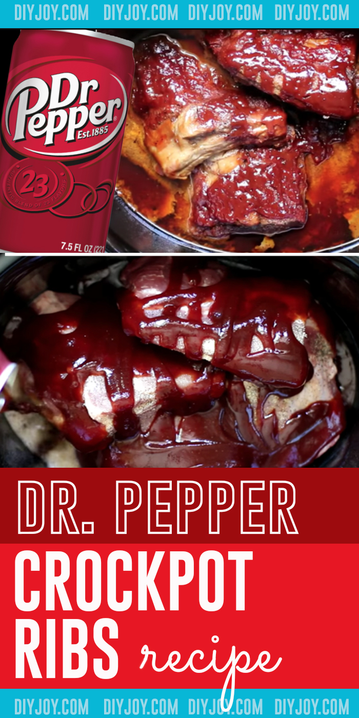 Easy Crockpot Recipes for Dinner - Quick Dr. Pepper Crockpot Ribs Recipe for Slow Cooker Recipe Meals