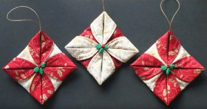 Sewing Tutorial: Folded Fabric Ornaments