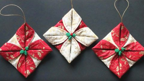 Sewing Tutorial: Folded Fabric Ornaments | DIY Joy Projects and Crafts Ideas