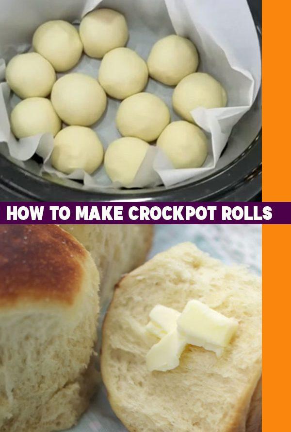 Easy Bread Recipes - Crockpot Roll Recipe -How to Make Rolls In A Crockpot - Slow Cooker Bread Recipe