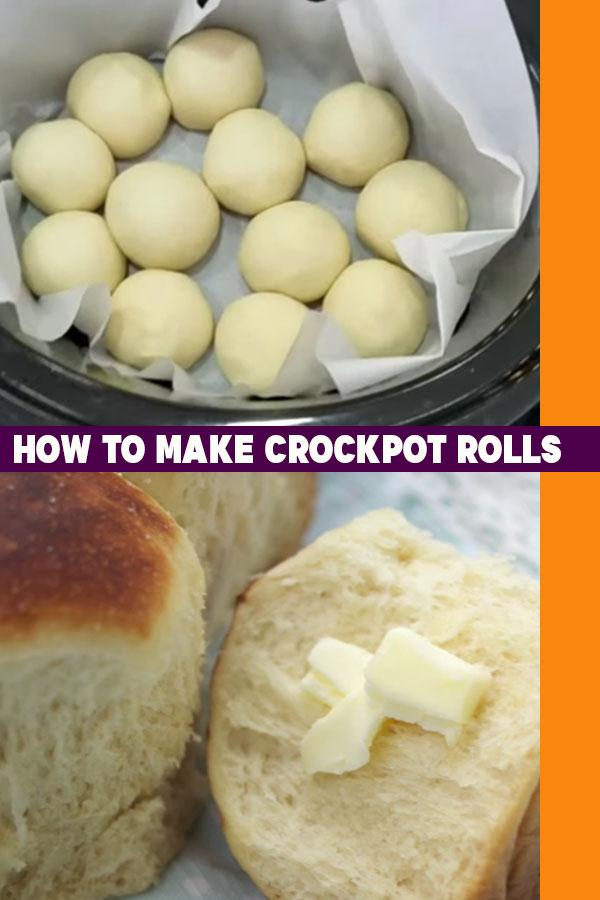 How to Make Rolls In A Crockpot - Slow Cooker Bread Recipe #bread #breadrecipes #easyrecipes