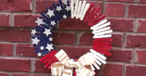 Dollar Store DIY: Patriotic Clothespin Wreath