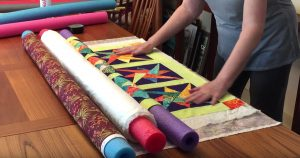 Make A Quilt Sandwich With Pool Noodles